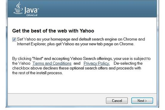 Oracle ha decidido sustituir Ask por Yahoo! en actualizaciones de Java foto