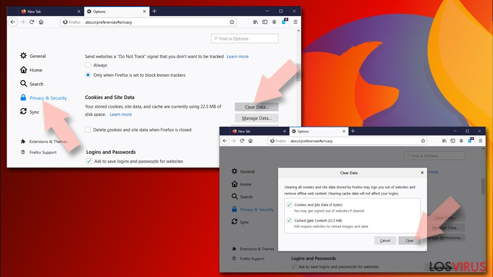 Reiniciar Mozilla Firefox