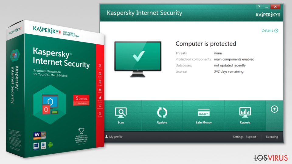 The image of Kaspersky Internet Security