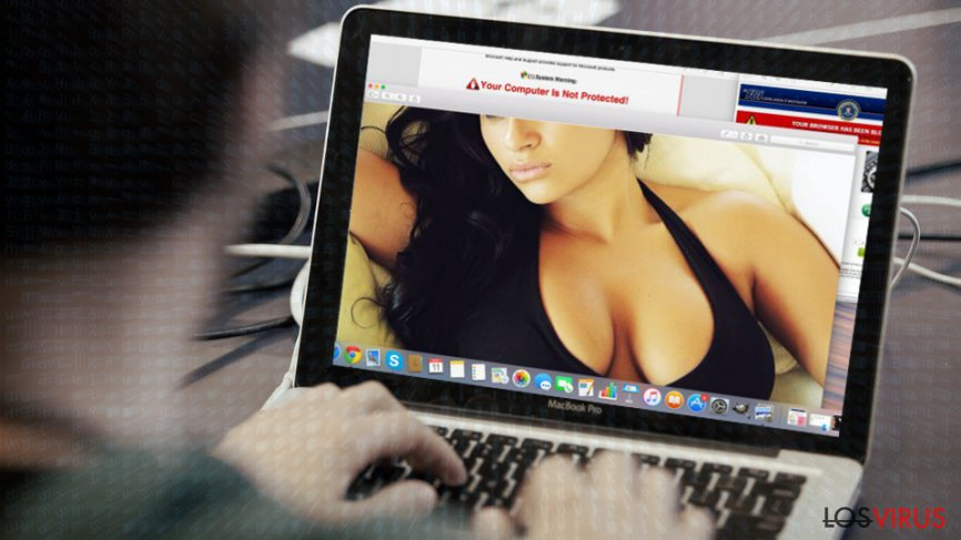 The example of porn site infection