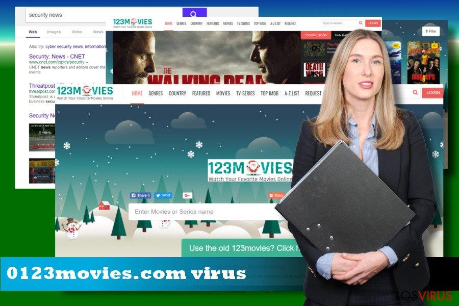 Ilustrando el hacker de navegador 0123movies.com