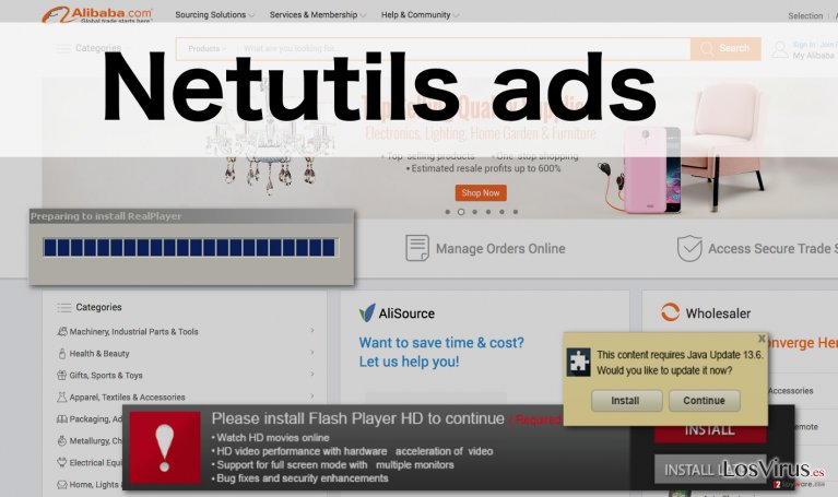 A picture displaying Netutils ads