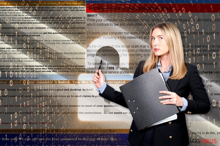 El virus ransomware ACCDFISA v2.0 foto