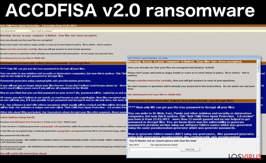 ACCDFISA v2.0 ransomware virus