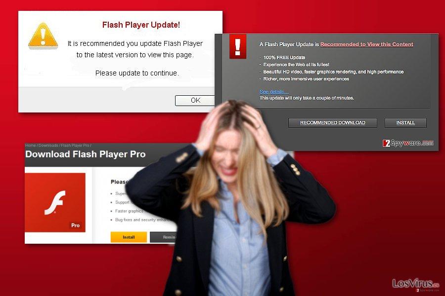 El virus Flash Player Pro foto