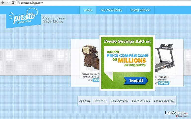 Los anuncios de PrestoSavings foto