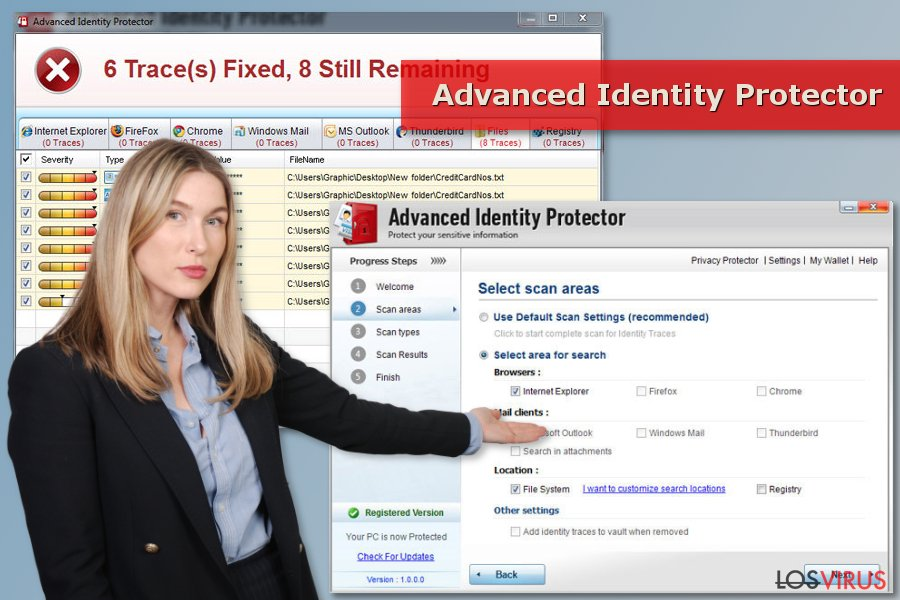Escaneo de Advanced Identity Protector