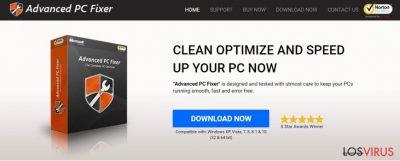 Captura de pantalla del virus Advanced PC Fixer