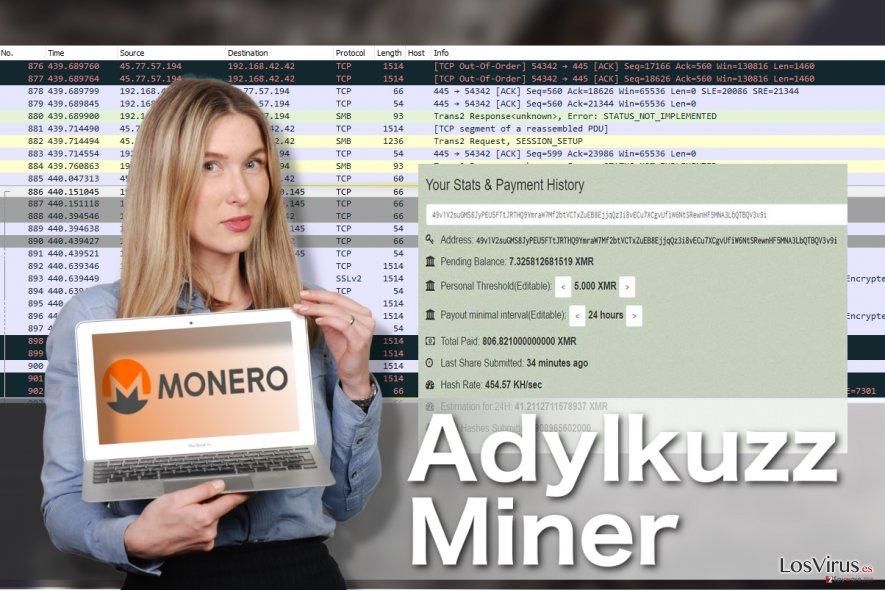 Ilustración del virus Adylkuzz Miner