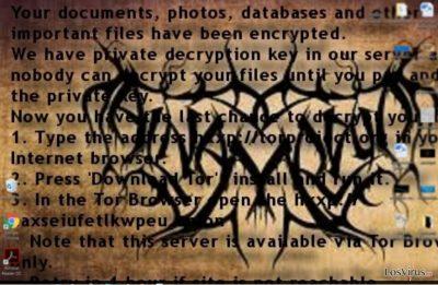 Nota de pago del ransomware Al-Namrood