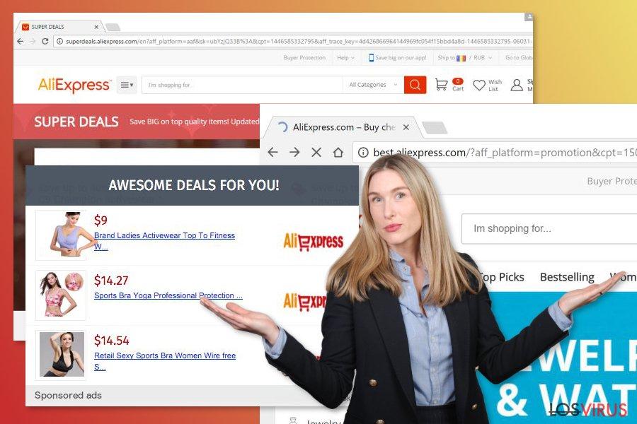 Imagen del adware Aliexpress