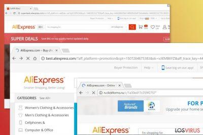 Ejemplo del virus Aliexpress
