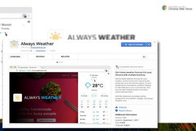 La imagen que muestra el plug-in Always Weather
