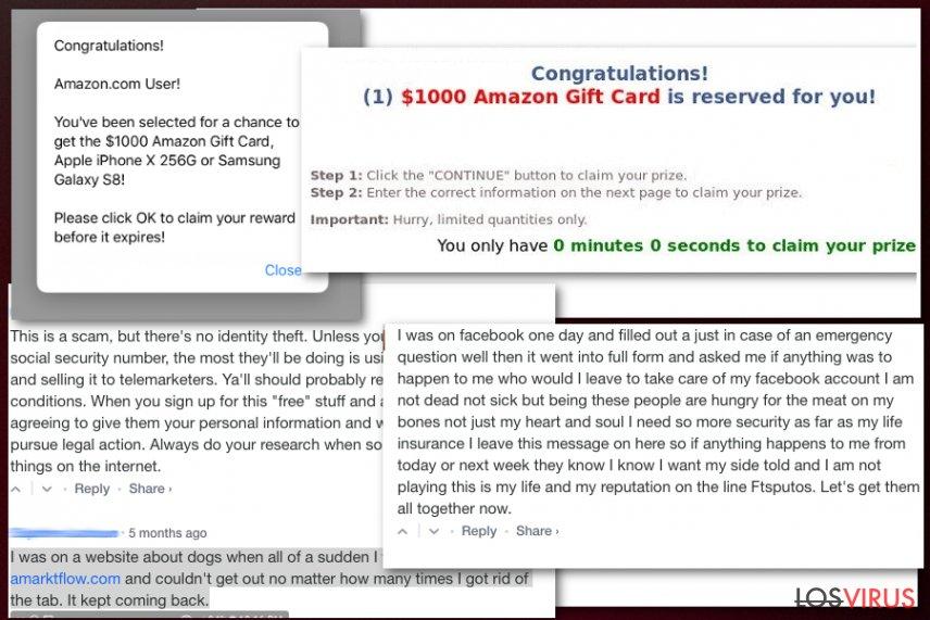 Falsa campaña de premios de Amarktflow