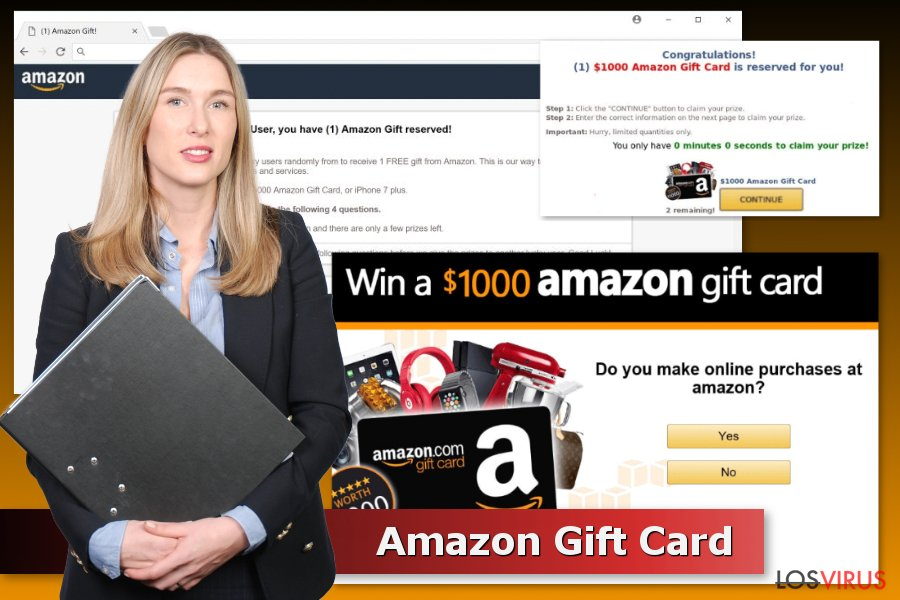 Ejemplos de estafas Tarjeta Regalo Amazon