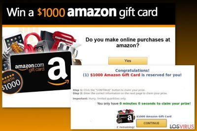 Ejemplo del virus Tarjeta Regalo Amazon