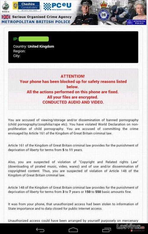 El virus Android Police foto