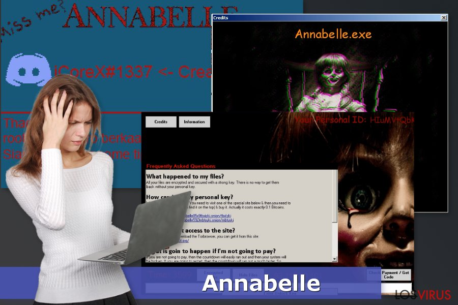 La imagen del ransomware Annabelle