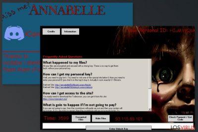 Imagen del virus Annabelle