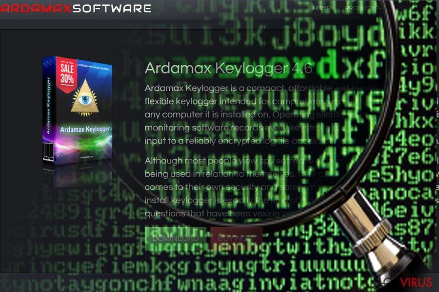 Pantallazo de Ardamax Keylogger