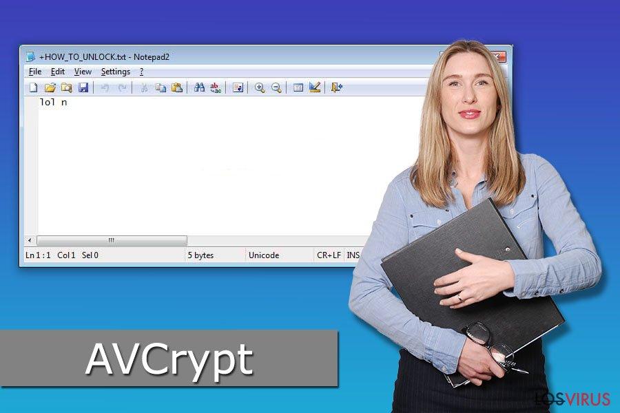 Virus ransomware AVCrypt