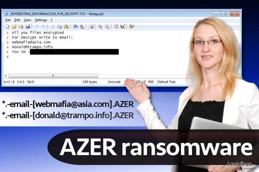 Virus ransomware Azer
