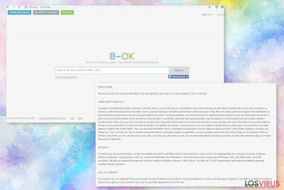 Página web de B-ok.org