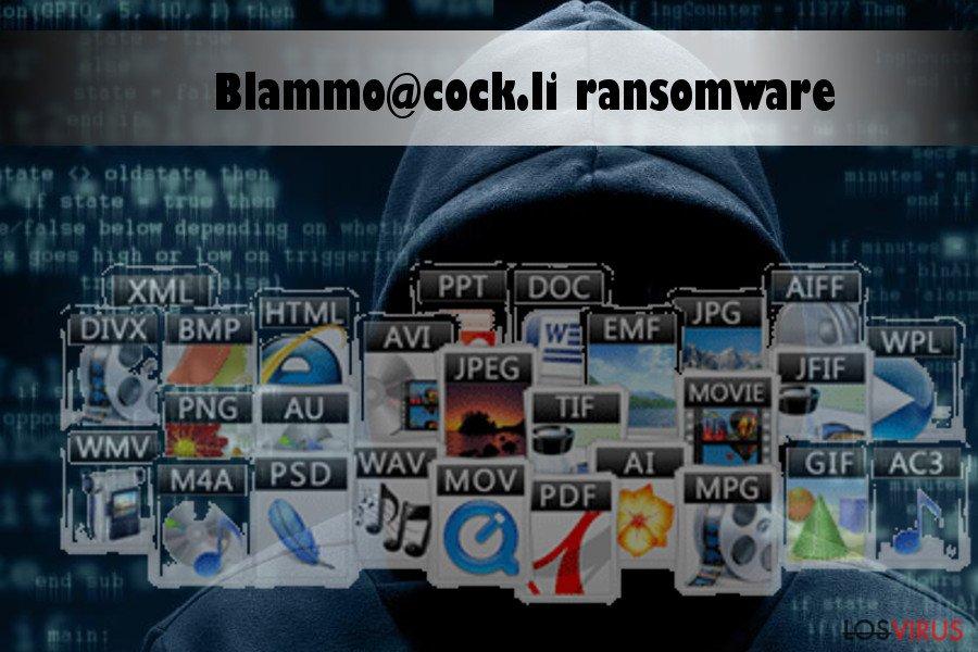 El virus ransomware Blammo@cock.li encripta datos