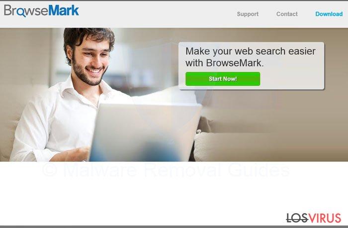 El virus BrowseMark foto