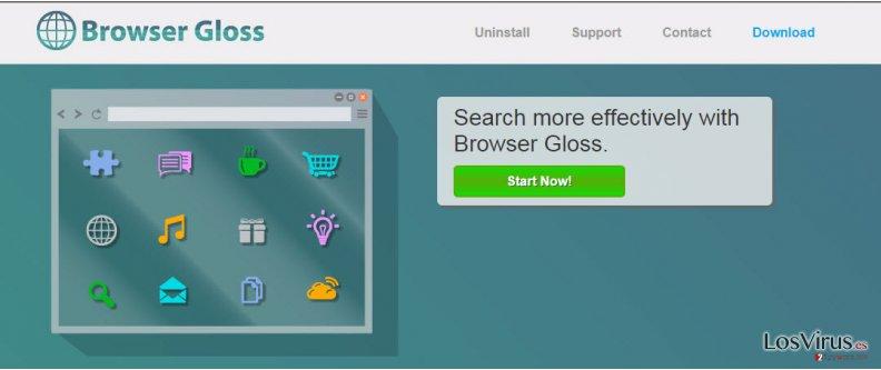 Los anuncios de Browser Gloss foto