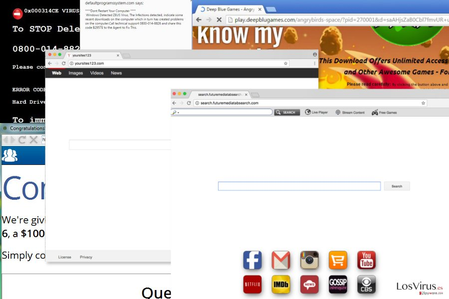 Virus de redirección de navegador