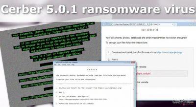 Ilustración del virus ransomware Cerber 5.0.1