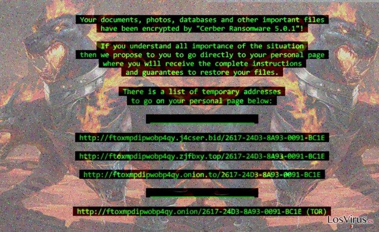 Virus ransomware Cerber 5 foto