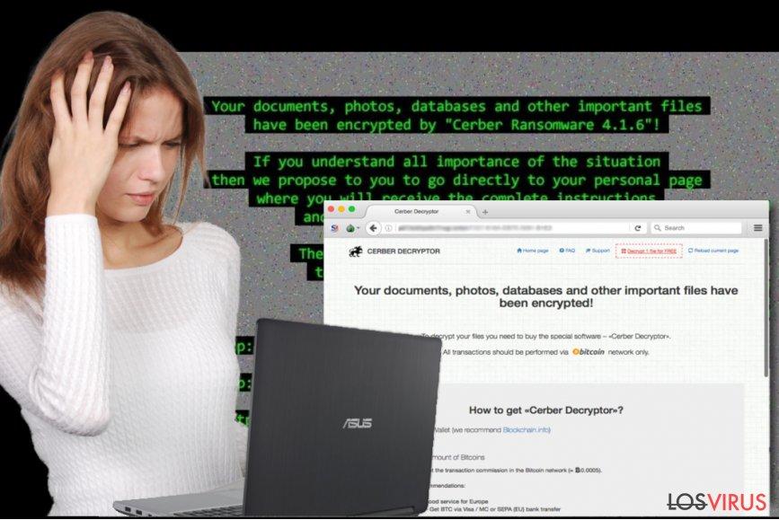 Ataque del virus Cerber