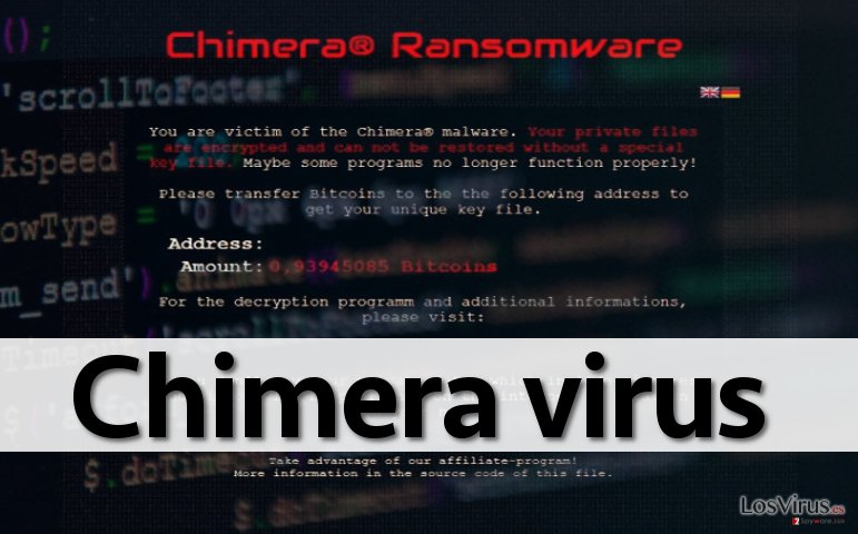 Chimera ransomware virus leaves this ransom note