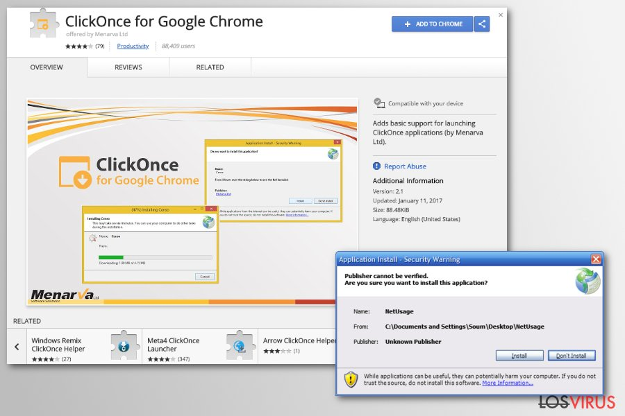 Virus de redirección de Chrome foto
