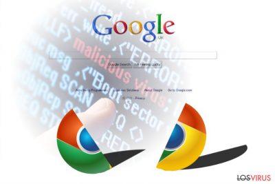 La imagen que muestra un virus de Chrome