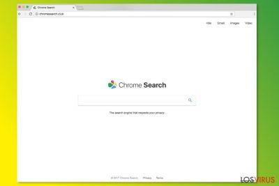 Página de inicio de ChromeSearch.club
