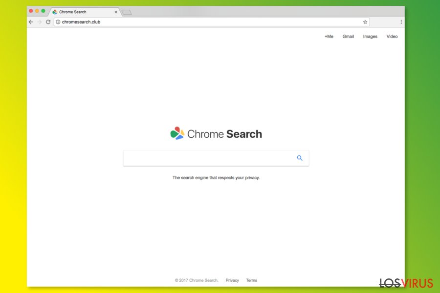 Página de inicio de ChromeSearch.club