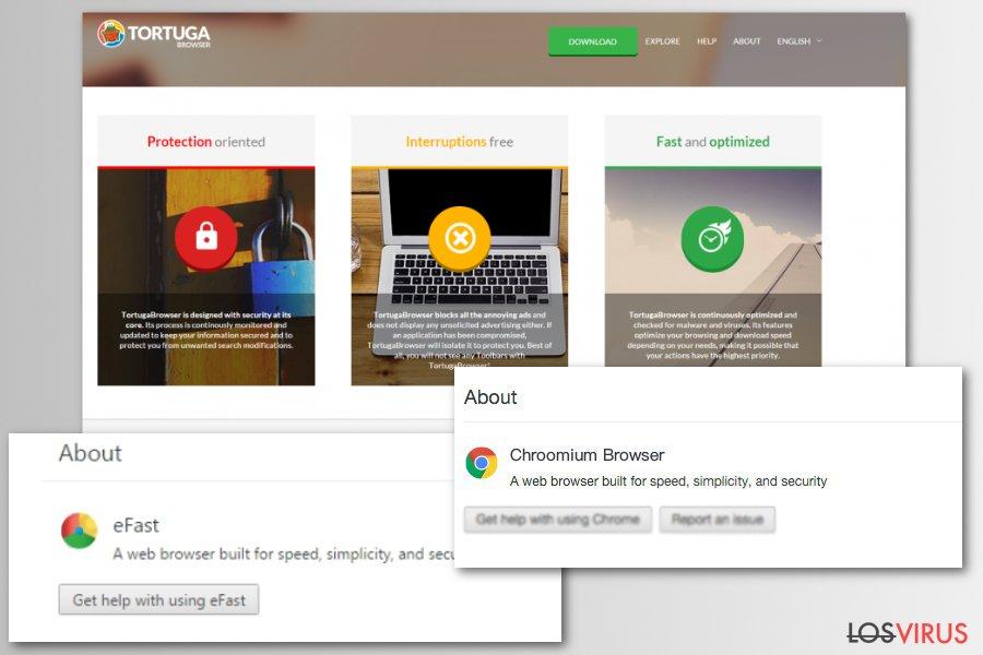 Virus de falsos navegadores