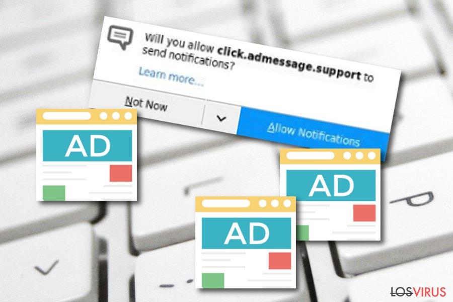 Adware Click.admessage.support
