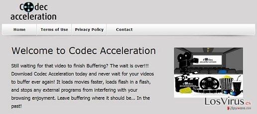 El adware Codec Acceleration foto