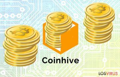 La imagen abstracta del malicioso Minero Coinhive