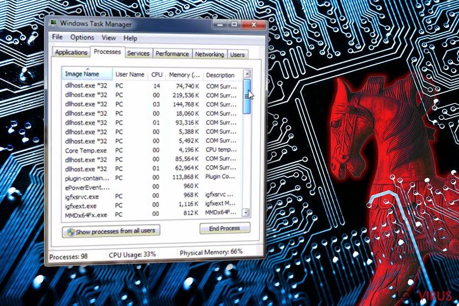 El virus COM surrogate foto
