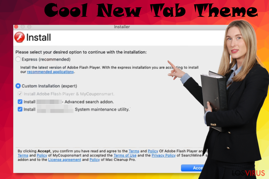 Malware Cool New Tab Theme