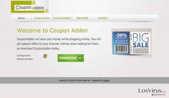 El virus CouponAddon foto