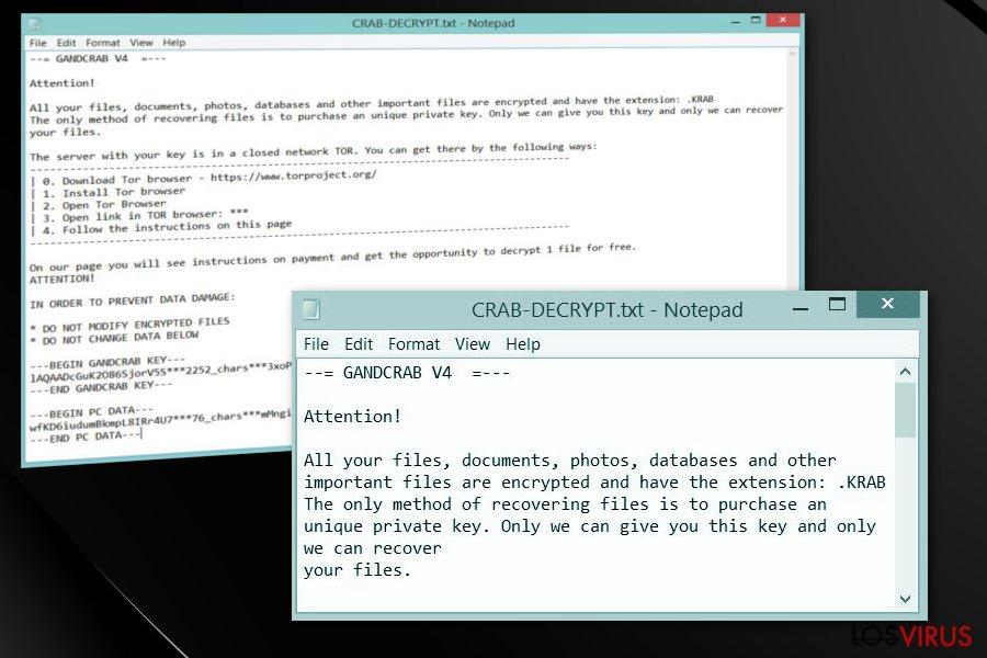 Ransomware .crab