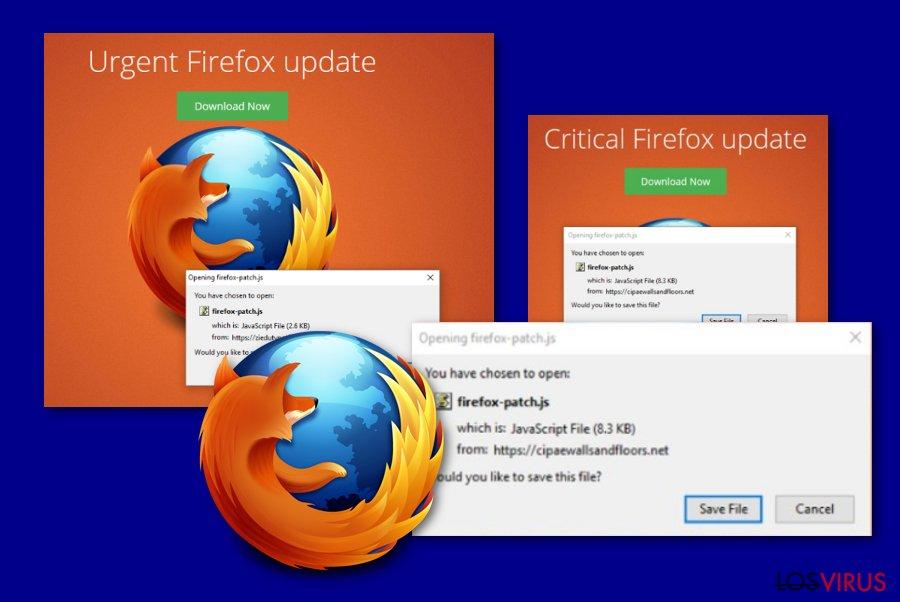 Mensaje de Critical Firefox Update