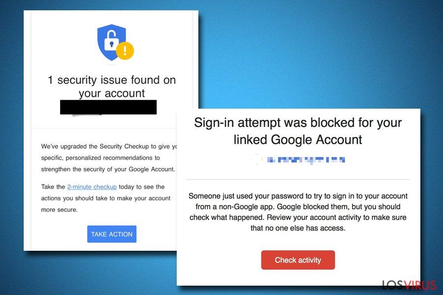 La alerta Alerta de Seguridad Crítica de Google puede ser real