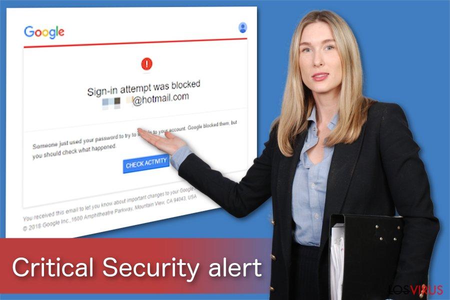 Ilustración de la Alerta de Seguridad Crítica de Google